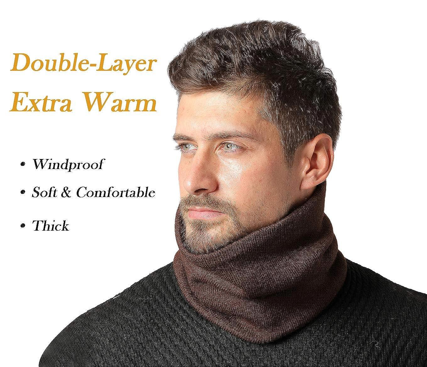 Jormatt 2 Pack//4Pack Double-Layer Thick Neck Warmers Fleece Heat Insulated Thermal Neck Gaiters Winter For Men Women
