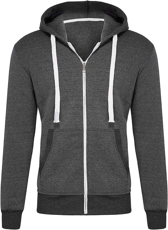 Liso Sudaderas con Capucha de Moda 2020 para Hombres Chaquetas Sudaderas Deportivas para Hombre Abrigos de Talla Grande Camisas Casuales de Manga Larga de Oto/ño Invierno