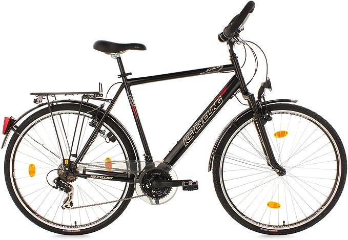 KS Cycling Climax - Bicicleta de trekking para hombre, color negro ...