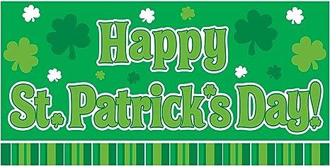 St Patrick/'s Day St Patty/'s Day Saint Patrick Shamrock Banner Lucky Banner St Patrick/'s Day Banner