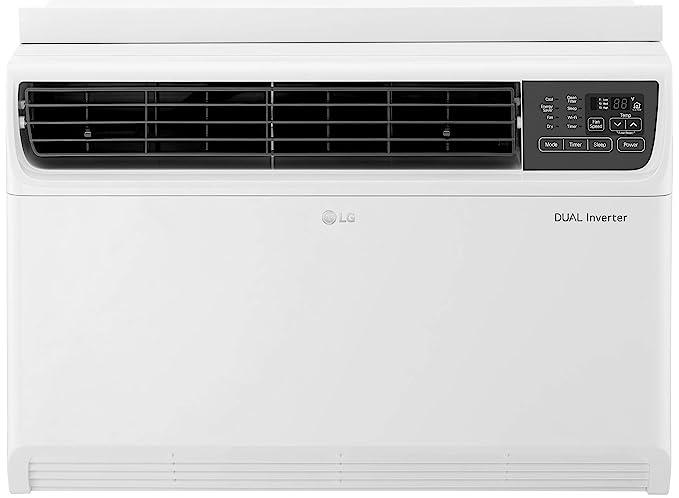 LG 1.5 Ton 5 Star Wi-Fi Inverter Window AC (Copper, JW-Q18WUZA, White, Low Gas Detection)