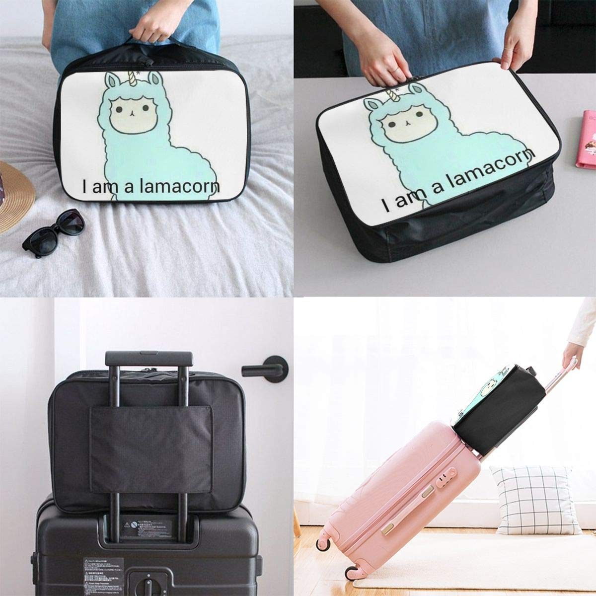 Lightweight Large Capacity Portable Duffel Bag for Men /& Women I Am A Llama Travel Duffel Bag Backpack JTRVW Luggage Bags for Travel