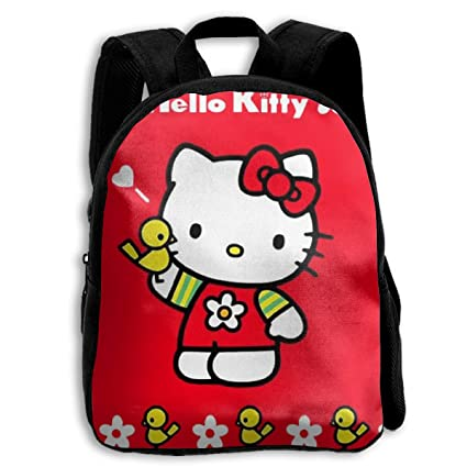Image Unavailable. Image not available for. Color  CHLING Kids Backpack Red  Hello Kitty Print Childrens School Bag Teenager Bookbag for Boys Girls 9e025aef18b68