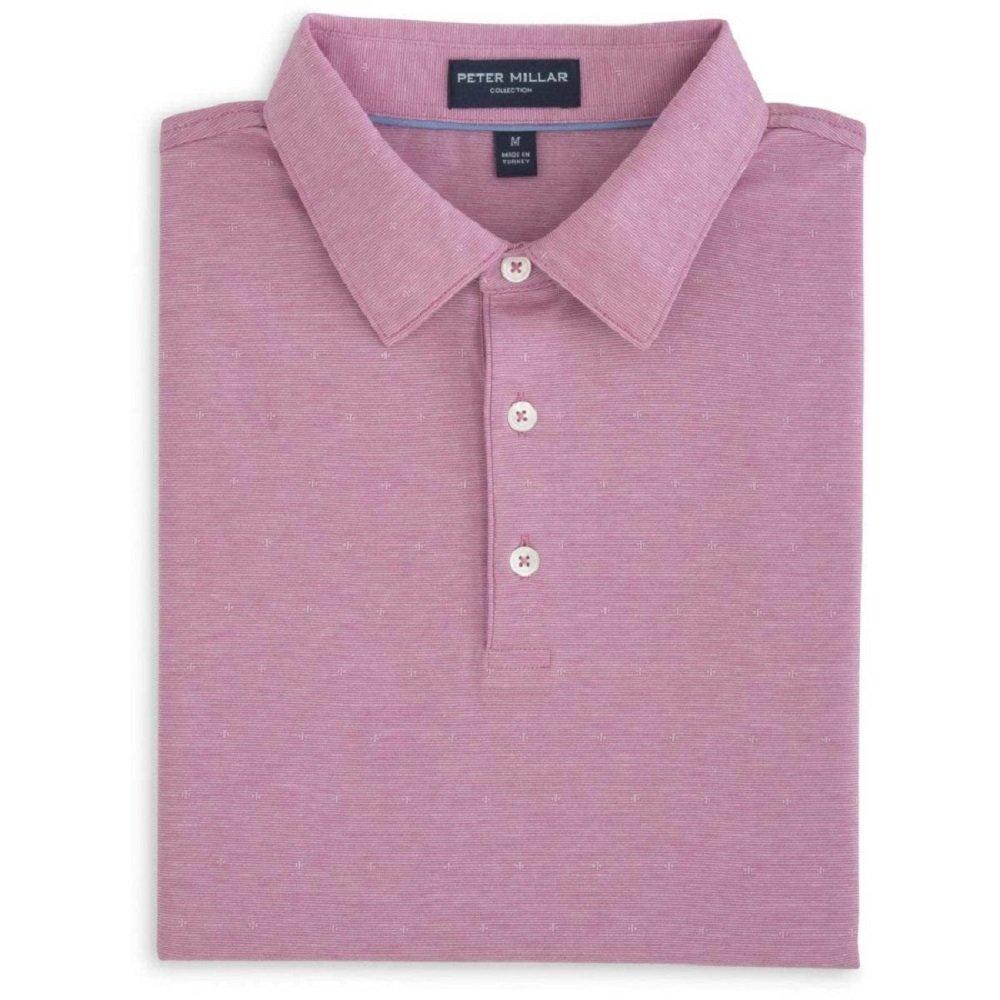 PETER MILLAR Men's Starlight Fine Line Short-Sleeve Polo SHIRT (Lotus Blossom) - S