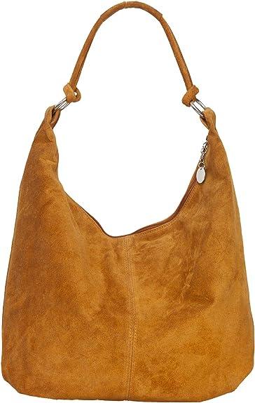 grand sac à main daim camel