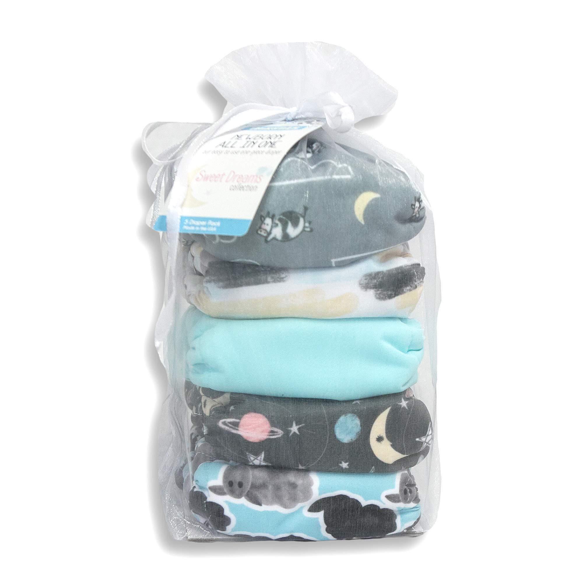 Thirsties Package, Snap Newborn All in One, Sweet Dreams by Thirsties (Image #2)