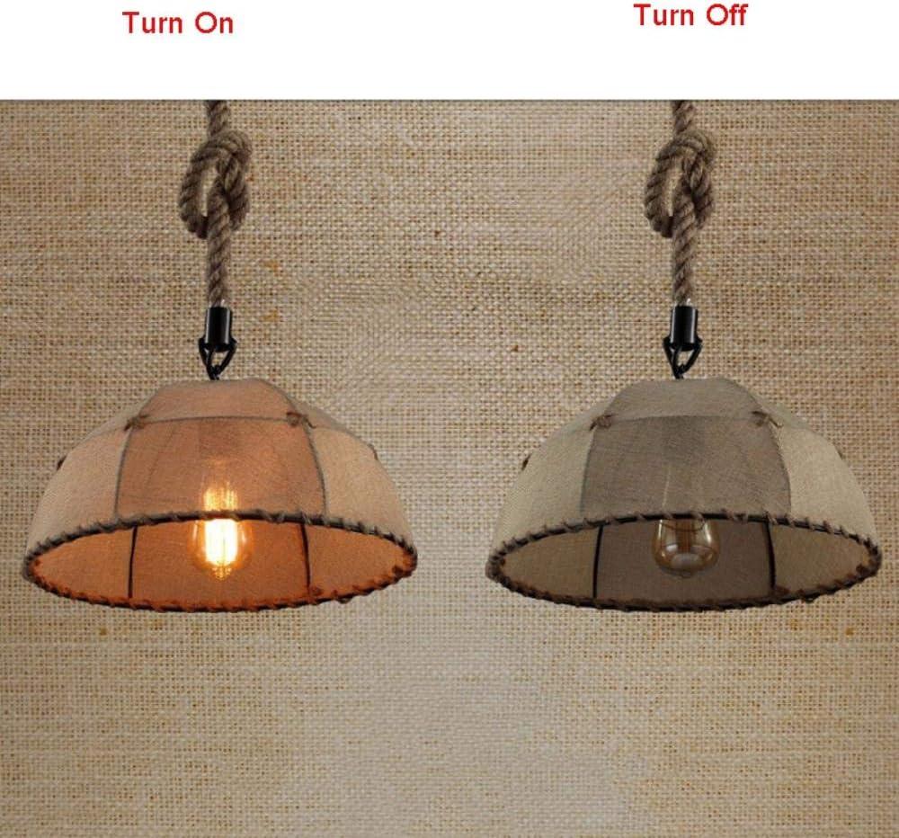 Nueva Luz de pared, lámpara de techo de buhardilla retro de la vendimia de cáñamo industria de los restaurantes barra de viento cuerda comedor escalera pasillo lámpara, color de lino: Amazon.es: Iluminación