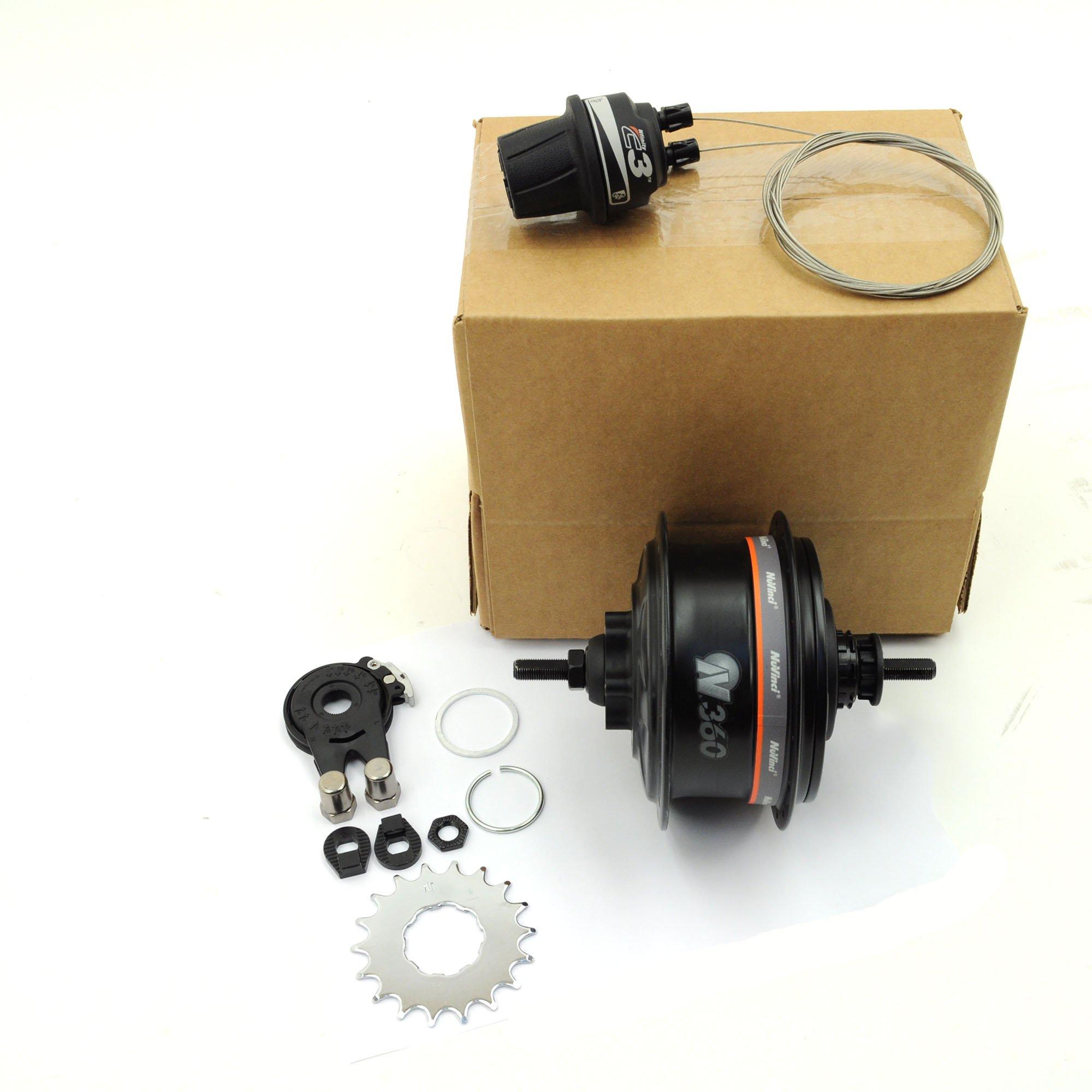 NuVinci N330 CVP Internal Gear Bicycle Rear Hub Silver 36h Roller Brake C3