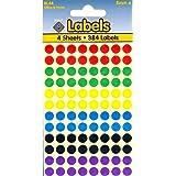 Pegatinas redondas (8mm), colores variados