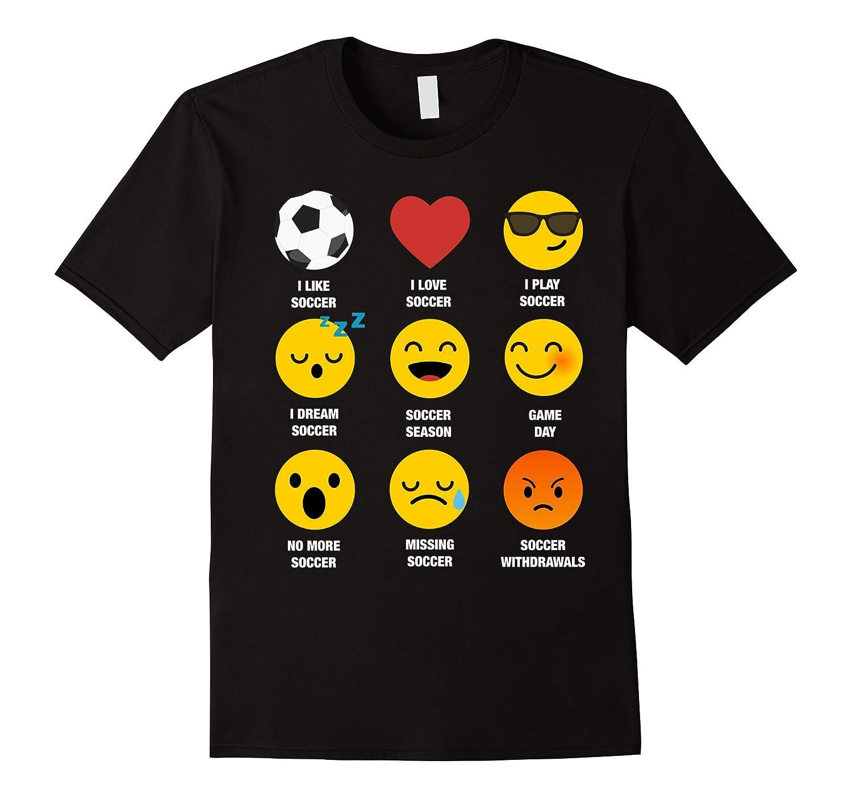 Best Soccer Emoji Emoticon Team Jersey Uniform Graphic TEE-FL