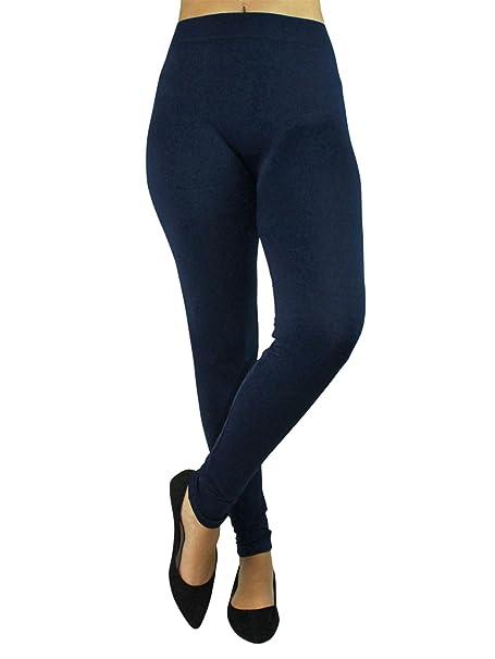 4607786a1 Dark Navy Blue Full Length Seamless Leggings For Women at Amazon Women's  Clothing store: