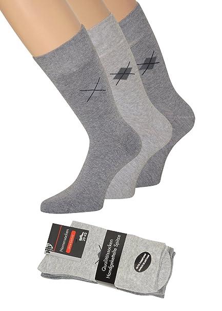 Señor Calcetines sin goma impresión sin cintura Calcetines sin goma sin cordón elástico para hombre, 6 pares: Amazon.es: Ropa y accesorios
