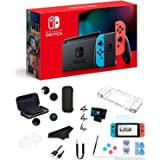 """Newest Nintendo Switch 32GB Console with Neon Blue and Neon Red Joy-Con, 6.2"""" Multi-Touch 1280x720 Display, WiFi, Bluetooth,"""