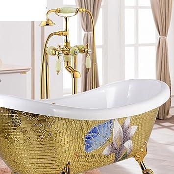 Bagno free-standing chaise longue rubinetto vasca da bagno/doccia ...