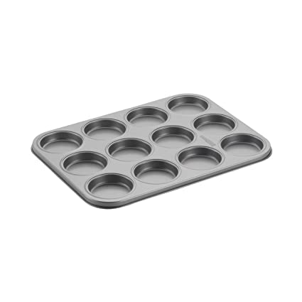 Cake Boss Novelty Nonstick Bakeware 12-Cup Whoopie Pie Pan, Gray by Cake Boss