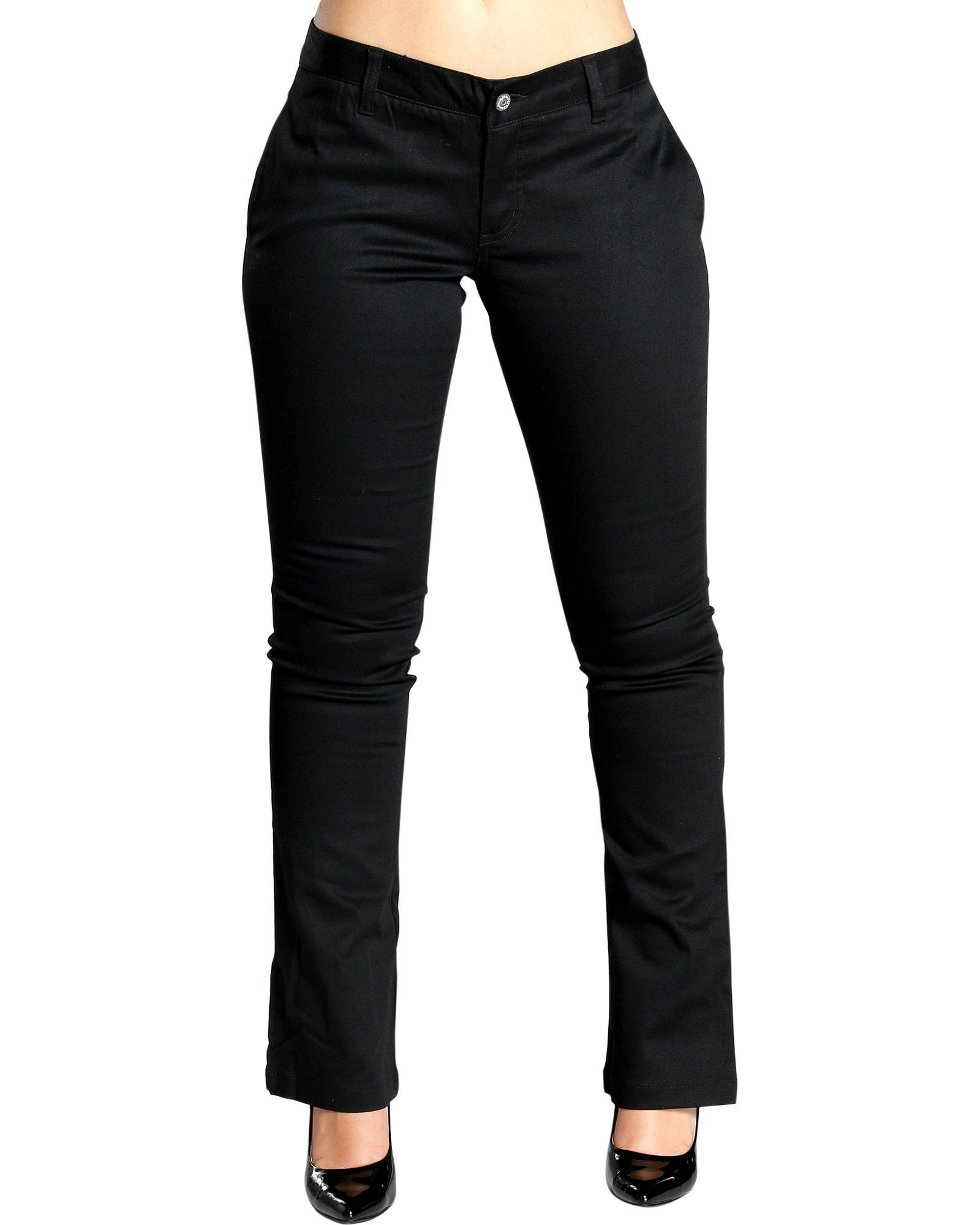 Dickies Girl Juniors 4 Pocket Straight Leg Pant,Black,7