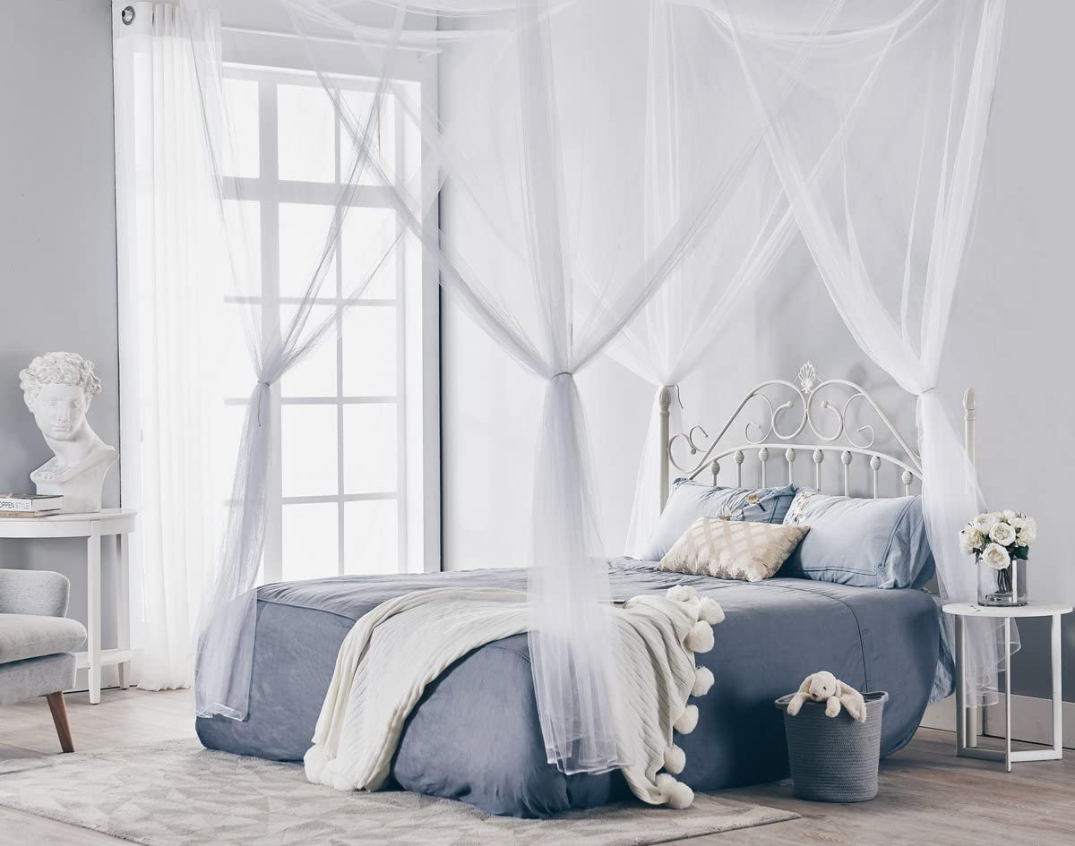 Truedays Four Corner Post Bed Princess Canopy Mosquito Net Full/Queen/King Size  sc 1 st  Amazon.com & Shop Amazon.com | Bed Canopies u0026 Drapes