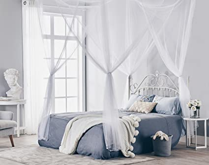 Truedays Four Corner Post Bed Princess Canopy Mosquito Net Full/Queen/King Size & Amazon.com: Truedays Four Corner Post Bed Princess Canopy Mosquito ...