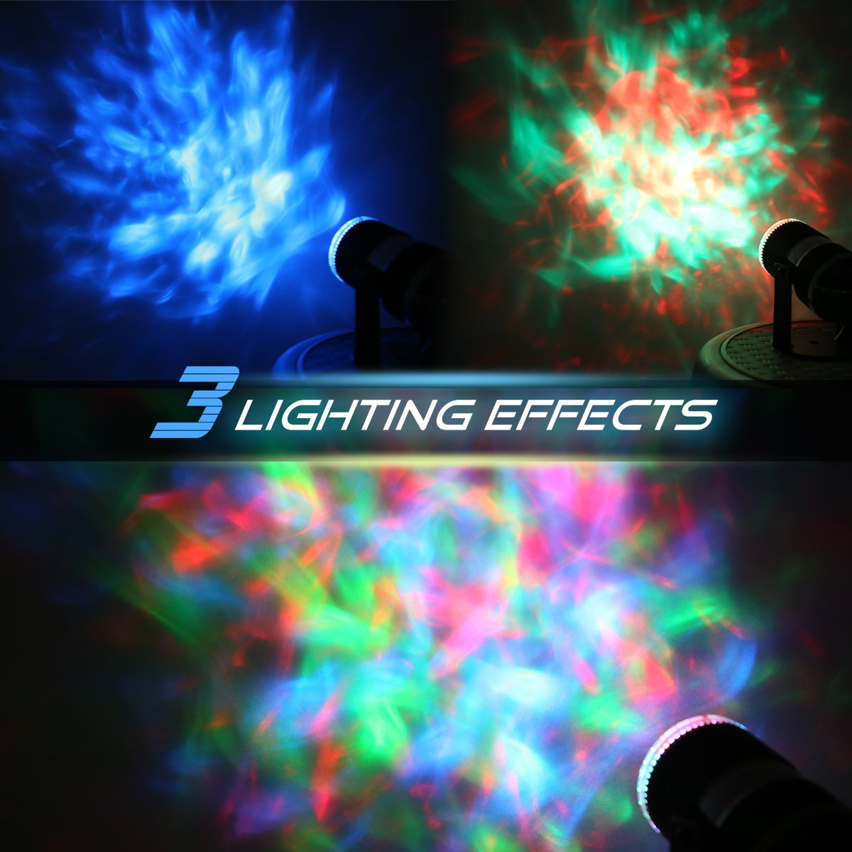 CoastaCloud Sleep Soothing Aurora LED Night Light Projector Colorful Spotlight for Home Party Wedding Christmas Holiday Decoration and Baby Kids Bedroom Light Adults Living Room