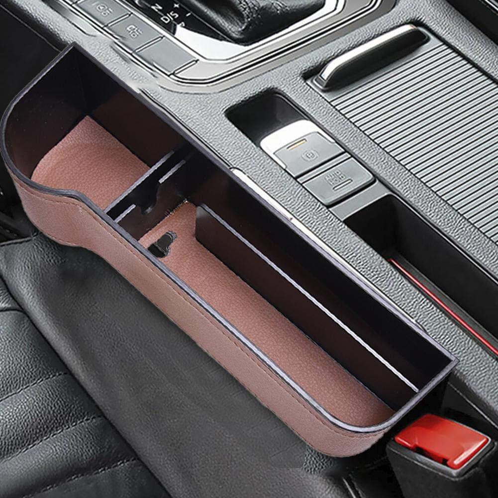 Universal Auto Seat Gap Organizer Aufbewahrungsbox Konsole Seitentasche Ledersitz Spalt Aufbewahrungsbox Seat Gap Pocket Organizer f/ür Brieftasche Telefonm/ünzen Zigarettenschl/üssel Karten Tassen