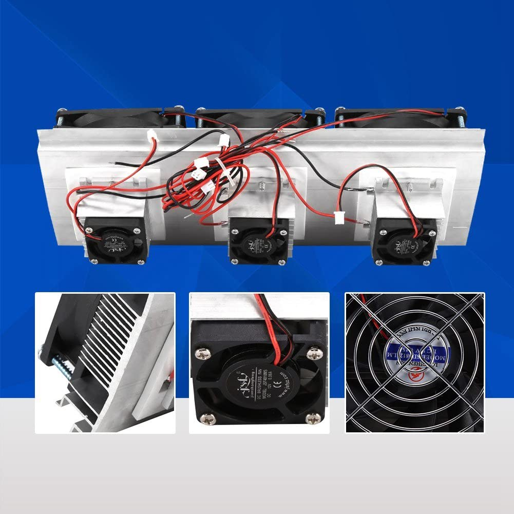 Zerone Semiconductor Refrigeration Piece Kit Thermoelectric Peltier Air Cooling Device