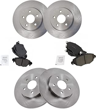 REAR Disc Brake Rotors Ceramic Brake Pads Kit 2002 2003 2004 Jaguar X-Type