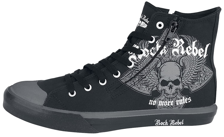 Rock Rebel by EMP Walk The Line Zapatillas Negro S0A0f8URkx