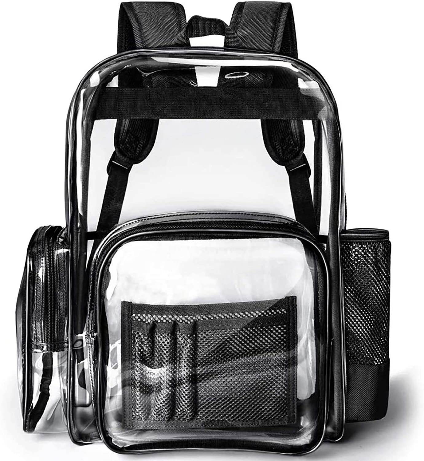 Clear Backpack, Packasso Heavy Duty Clear Bag for Adults, Boys, Girls, Stadium