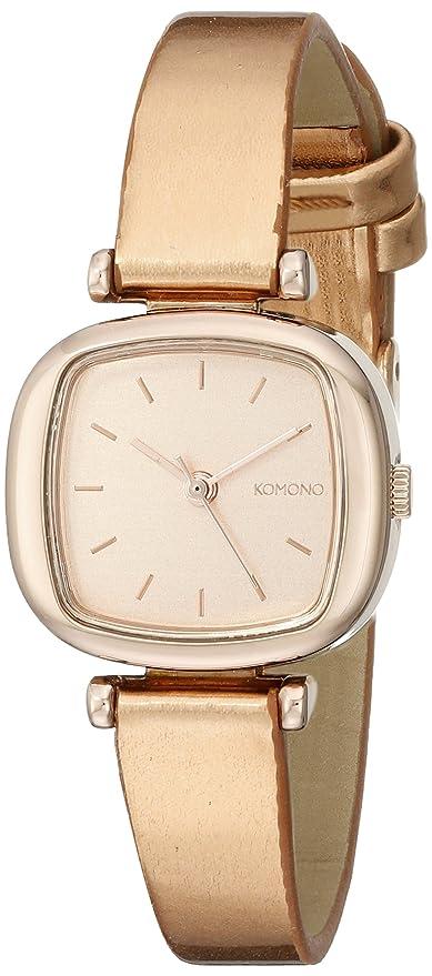 Komono moneypenny Metalic Oro Rosa Reloj de cuarzo para mujer con oro rosa esfera analógica pantalla