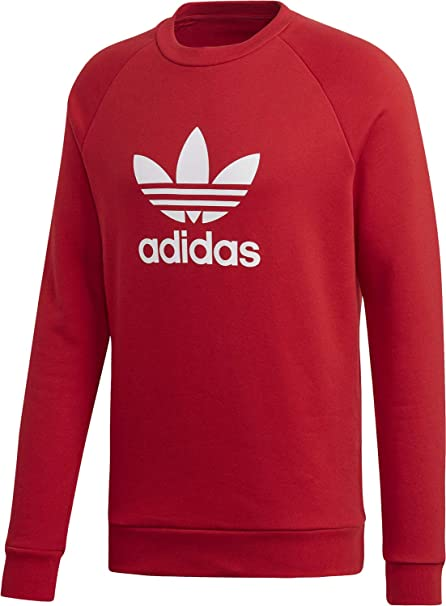ea7d63f87c54 adidas Men s Trefoil Warm-up Crew Sweatshirt  Amazon.co.uk  Clothing
