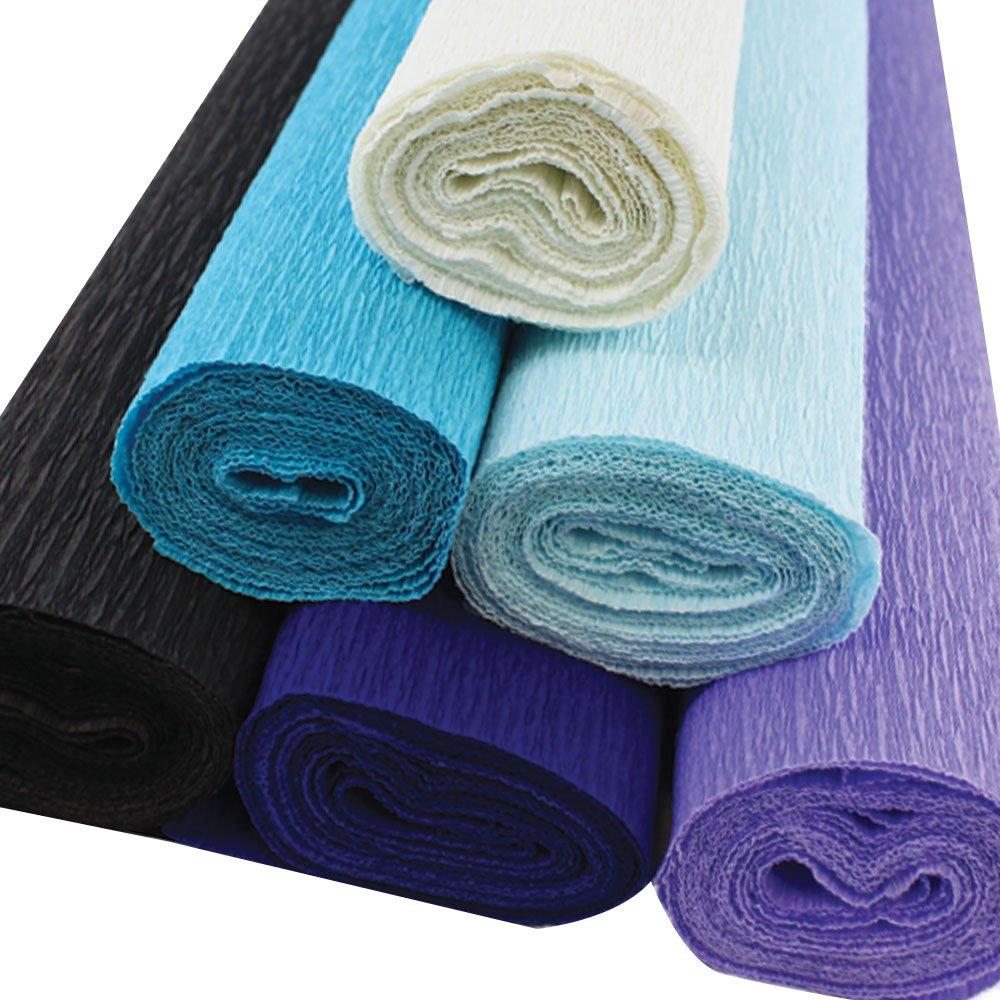6pcs, Color: Donut 8ft Length//20in Width Just Artifacts Premium Crepe Paper Rolls