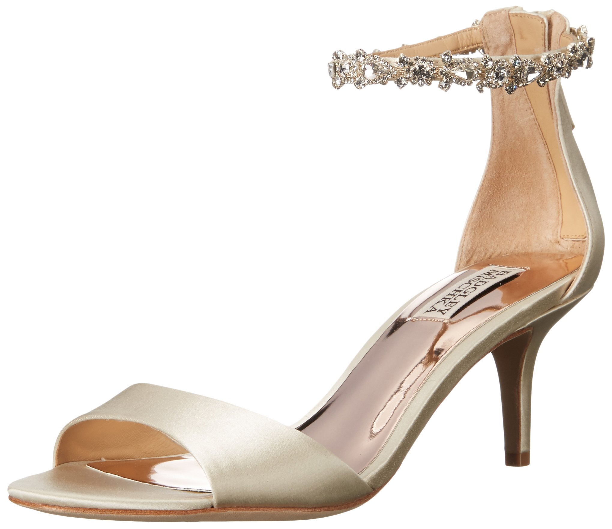 Badgley Mischka Women's Geranium Heeled Sandal, Ivory, 8.5 Medium US