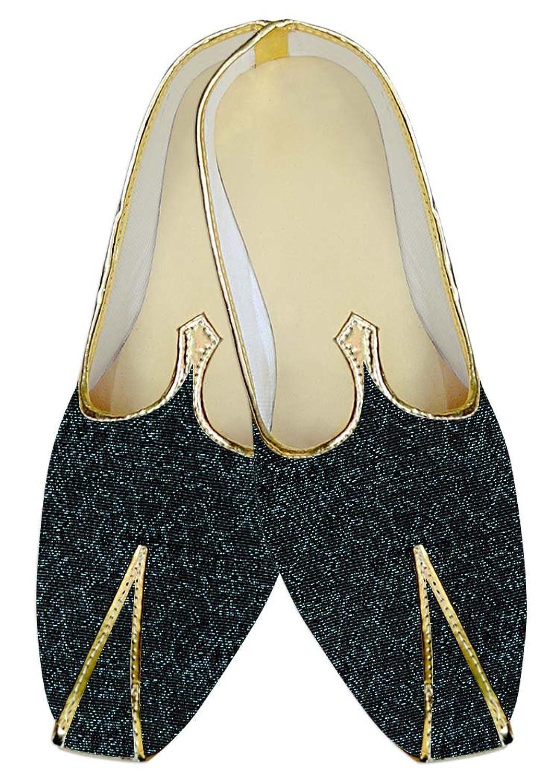 INMONARCH Hombres Boda Zapatos Cian Diseño Negro MJ011557 40.5 EU
