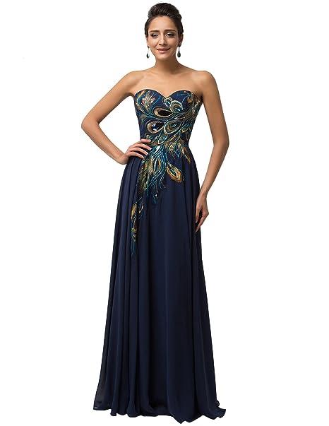 Quissmoda vestido corto largo fiesta, noche, gala, talla 34, color azulon