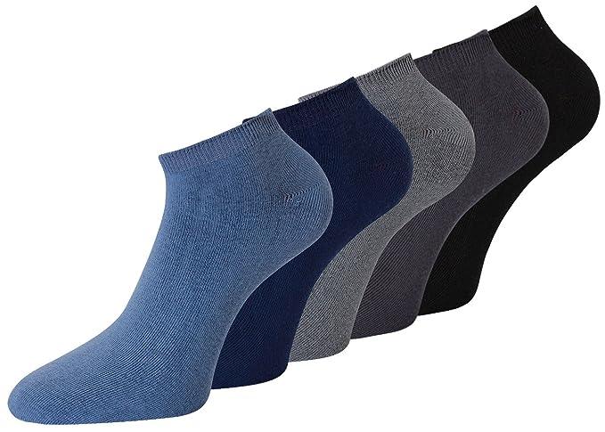 99f48f674a374d 10 Paar Herren Sneaker Socken Schwarz 80% Baumwolle (39-42, Farbig 1)