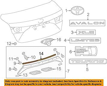 Toyota 76825-07020 Luggage Compartment Door Garnish Protector