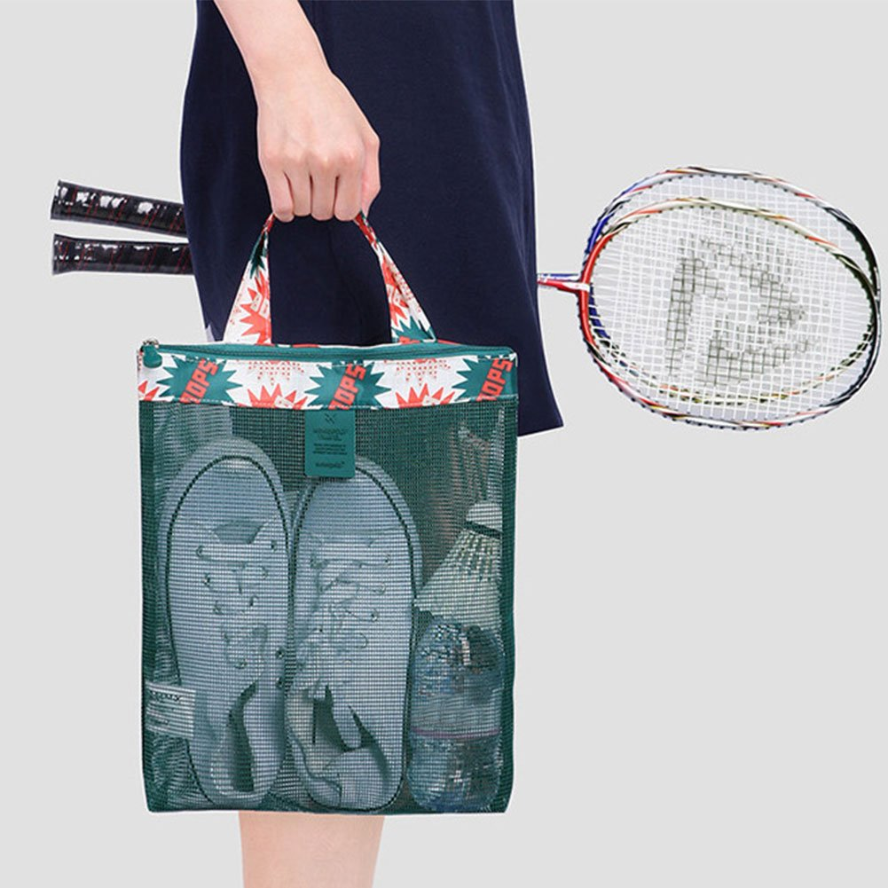 heaven2017 Portable Lady Travel Mesh Beach Bag Swimming Water Play Shower Handbag Organizer Black