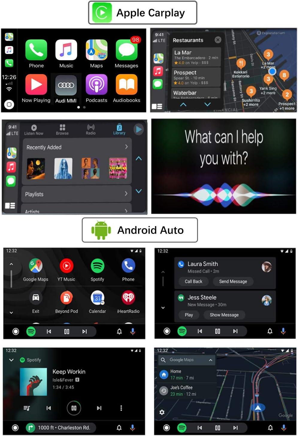 Q5 2009-2017 Jahr mit Mirror Link AirPlay CarPlay Funktion Road Top Retrofit Kit Decoder mit drahtlosem Apple CarPlay Android Auto Interface f/ür Audi S4 S5 A4 A5 2009-2015 Jahr