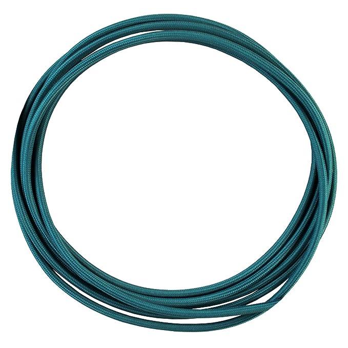 - Cable de luz con revestimiento textil Cable textil trenzado de 10 Metro smartect Cable para l/ámparas de tela en color Blanco 3 x 0,75 mm/² 3 hilos