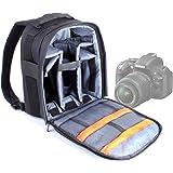 Sac à dos noir résistant à l'eau pour appareils photos SLR / reflex Nikon D7000, 600D, D3200 et D5200, Coolpix L31, L340, S33, P900 et L840 - poignée et lanières rembourrées