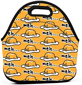 Gudetama Cute Insulated Neoprene Lunch Bag Tote Handbag lunchbox Food Container Gourmet Tote Cooler warm Pouch For School work Office