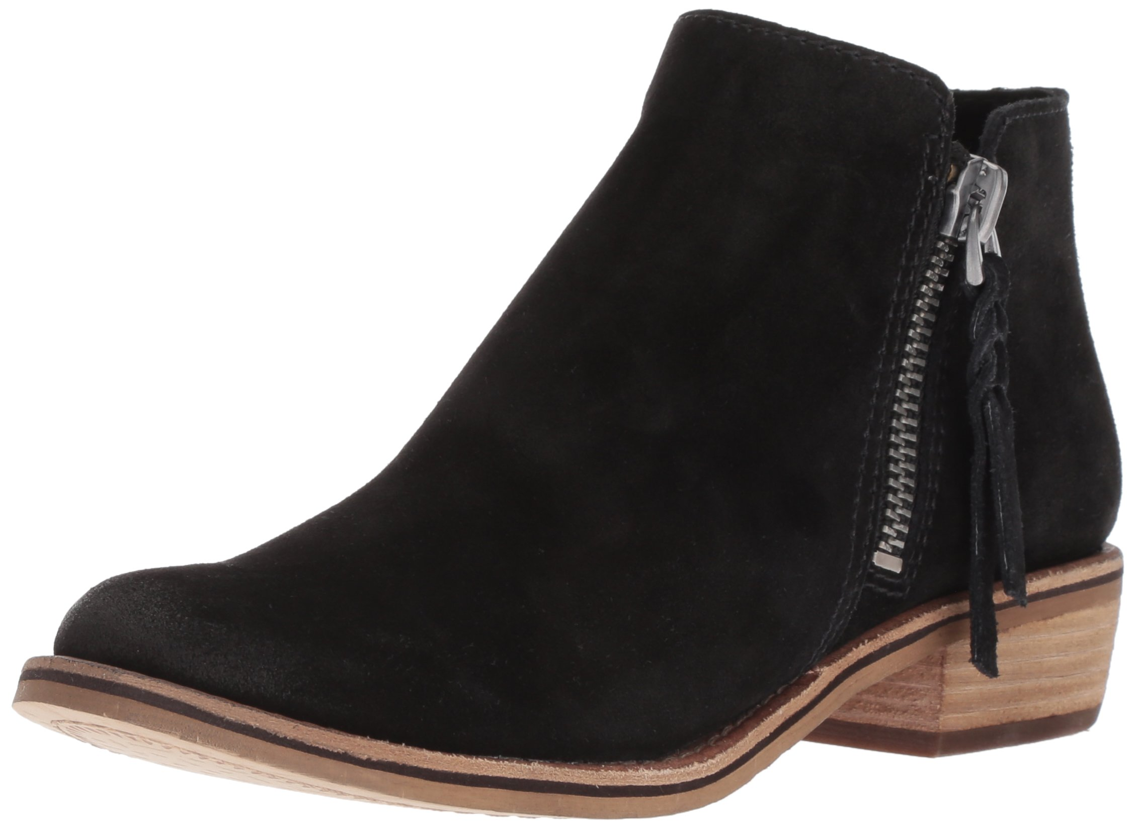 Dolce Vita Women's Sutton Ankle Boot, Black Suede, 9 M US