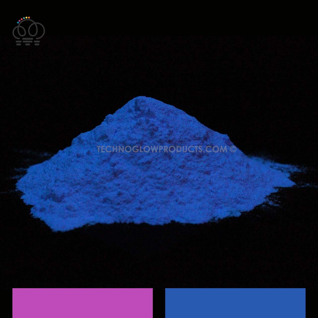 Purple to Blue Glow in the Dark & UV Powder (500 g) by Techno Glow Inc
