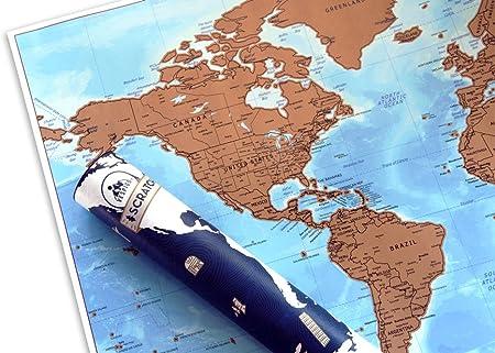 Cartina Geografica Per Segnare Luoghi Visitati.Con Bandiere Colorata E Divertente Idea Regalo Originale Per Amanti Dei Viaggi O Bambini Misure 84 1 X 59 4 Cm Vespigo Mappa Del Mondo Da Grattare Per Segnare I Paesi Visitati Mappe Geografia