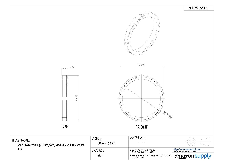 M55 Thread Right Hand 18 Threads per Inch SKF N 11 Locknut Steel