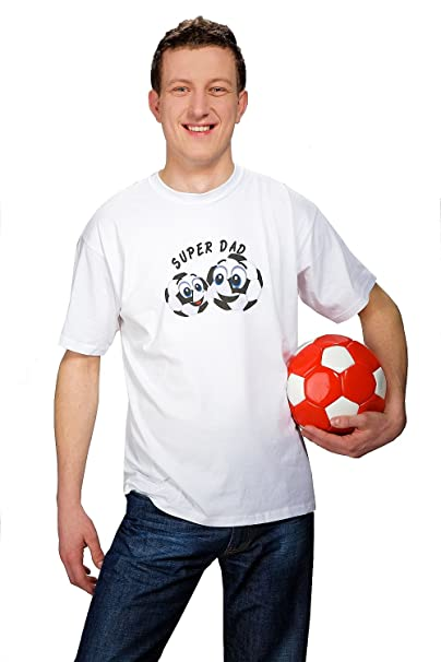 aaf974e145985 My Tummy T-shirt for Super Dad soccer Balls Football Balls XXL (XX ...