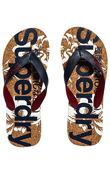 Superdry PRINTED CORK FLIP FLOP, Tongs homme - Bleu (Darkest Navy Optic  Hibiscus MZ7), 40 41 EU  Amazon.fr  Chaussures et Sacs 069756cc3a2a
