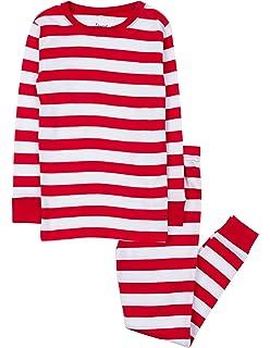 Leveret Kids Christmas Pajamas Boys Girls   Toddler Pajamas Red White Green  2 Piece Pjs Set 40f00ad74