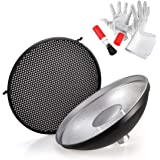 Godox AD-S3 Beauty Dish Reflector with Honeycomb Cover for Godox AD200PRO AD200 Pocket Flash Godox AD180 AD360 AD360II Flash