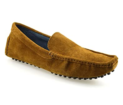 c8c248491cb1 Joseph Abboud Mens New Leather Suede Slip on Casual Mocassin Designer  Loafer Driving Shoes